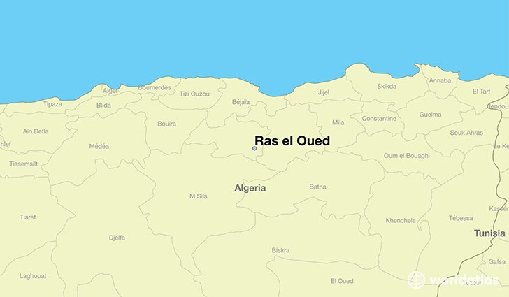 map showing the location of Ras el Oued