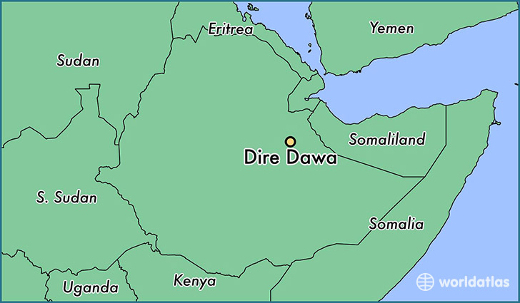 map showing the location of Dire Dawa