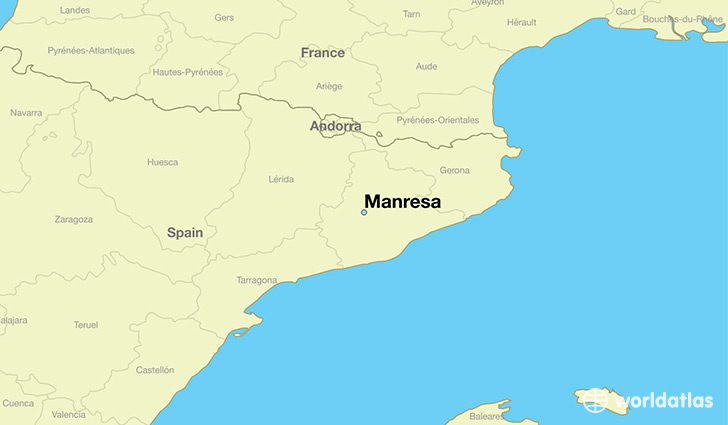 map showing the location of Manresa