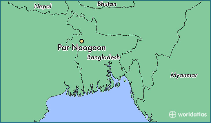 map showing the location of Par Naogaon