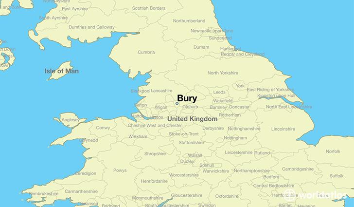 Where is Bury England Where is Bury England Located in The World Bury