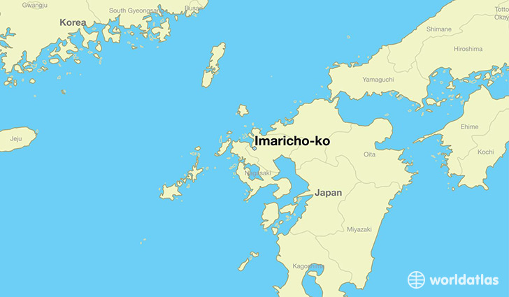 map showing the location of Imaricho-ko