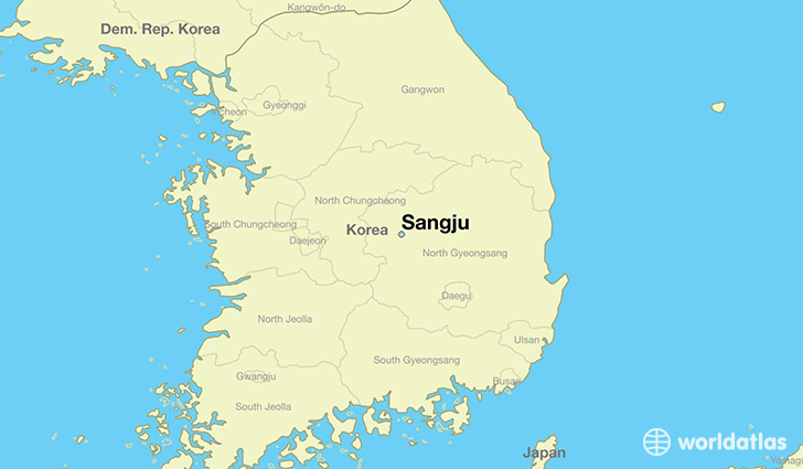 map showing the location of Sangju