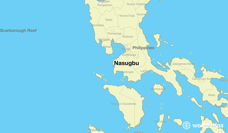 map showing the location of Nasugbu