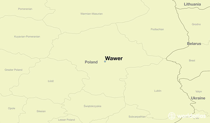 map showing the location of Wawer