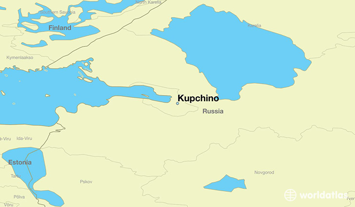 map showing the location of Kupchino