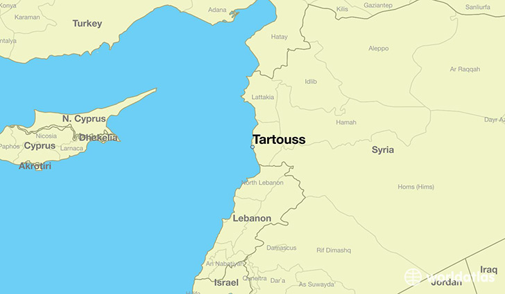 map showing the location of Tartouss