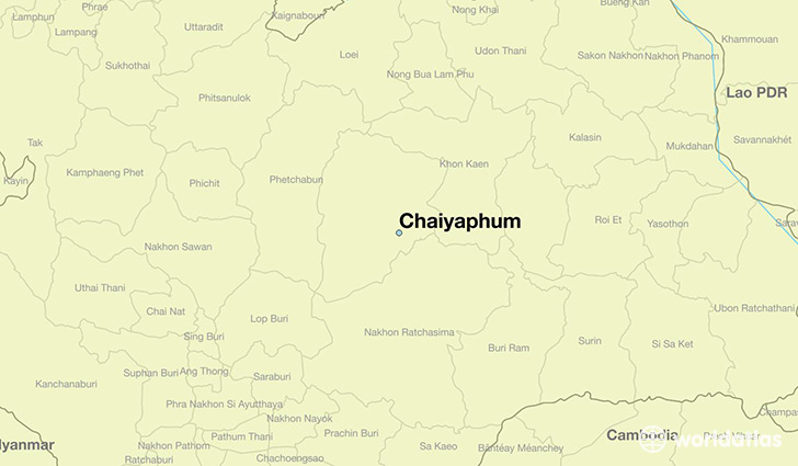 map showing the location of Chaiyaphum