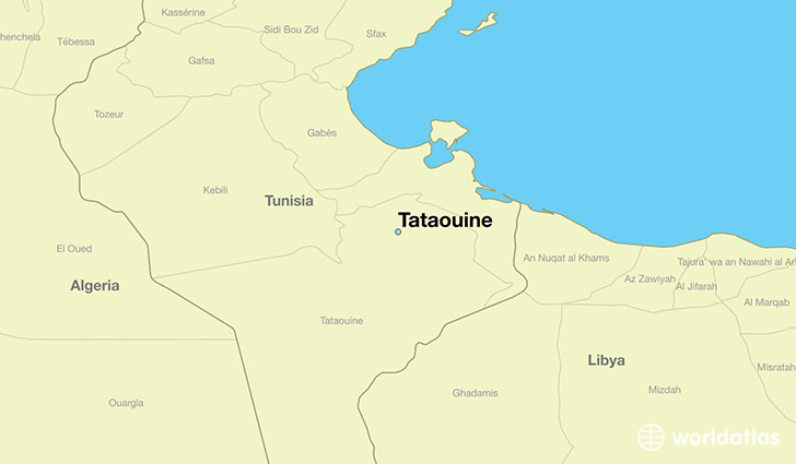 map showing the location of Tataouine