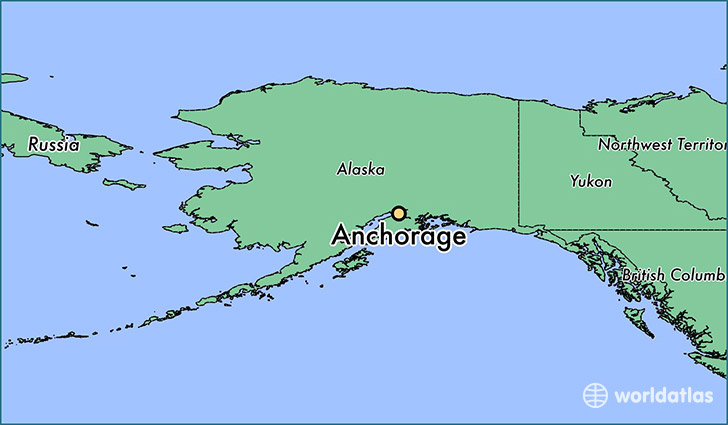 Where Is Alaska Located On The World Map Canada Map