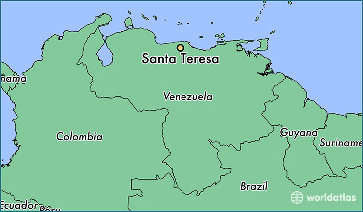 map showing the location of Santa Teresa