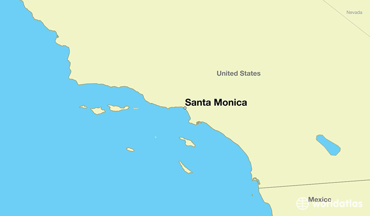 map showing the location of Santa Monica