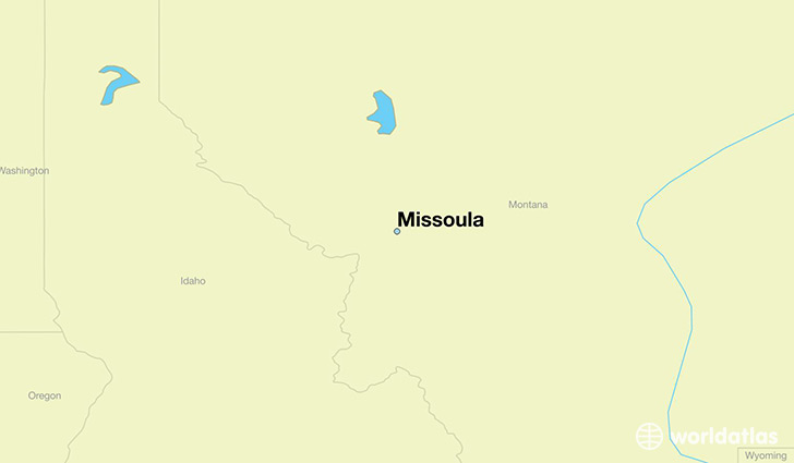 map showing the location of Missoula
