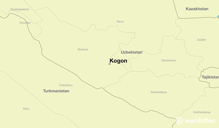 map showing the location of Kogon