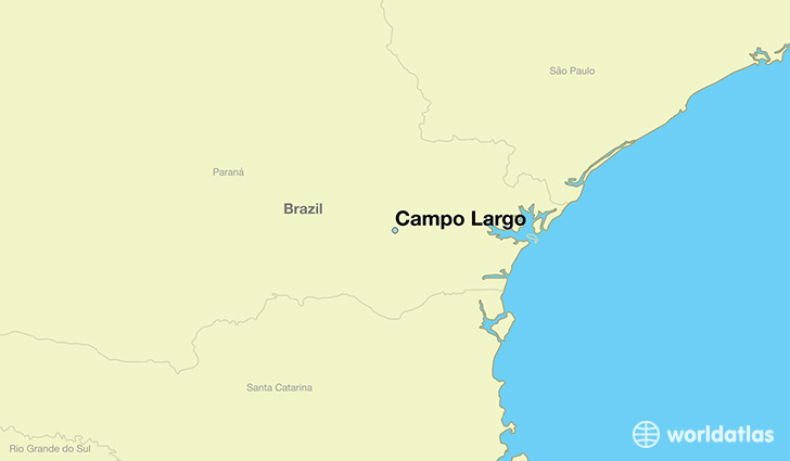 map showing the location of Campo Largo