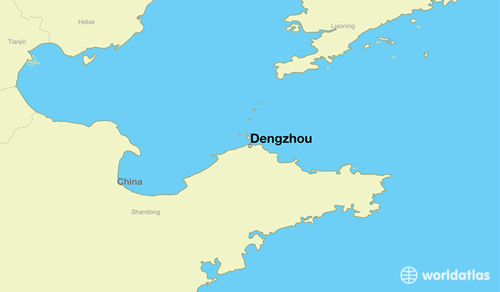 map showing the location of Dengzhou
