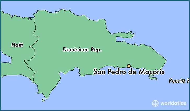 map showing the location of San Pedro de Macoris
