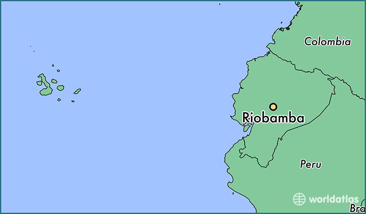 map showing the location of Riobamba
