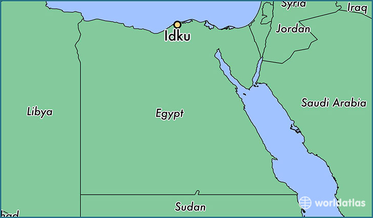 map showing the location of Idku