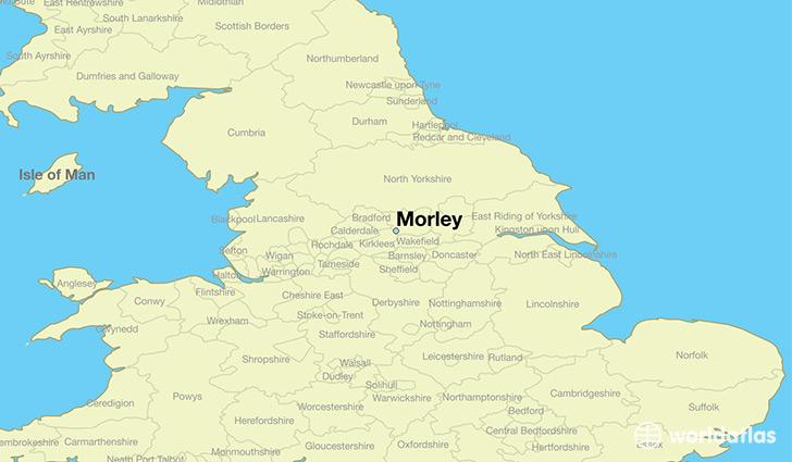 Where is Morley England Morley England Map WorldAtlascom