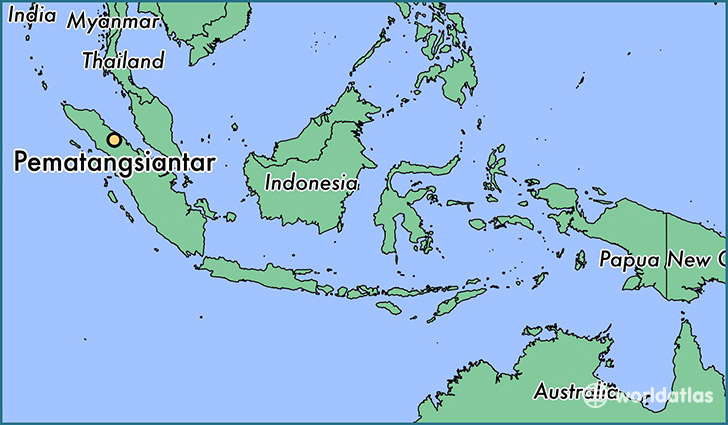 map showing the location of Pematangsiantar
