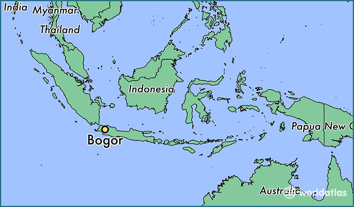Where is Bogor Indonesia Bogor West Java Map WorldAtlascom