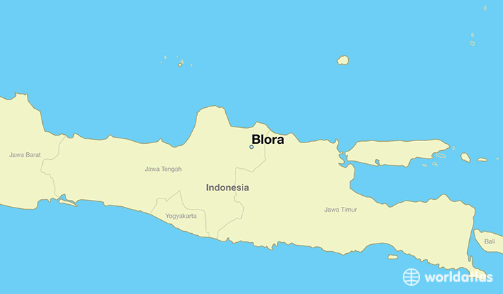map showing the location of Blora