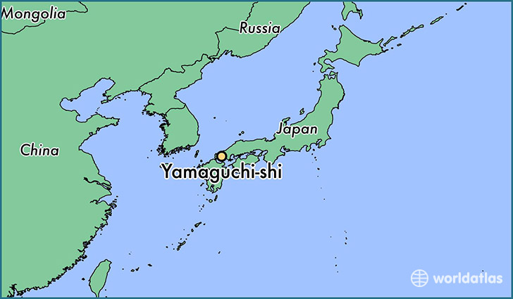map showing the location of Yamaguchi-shi