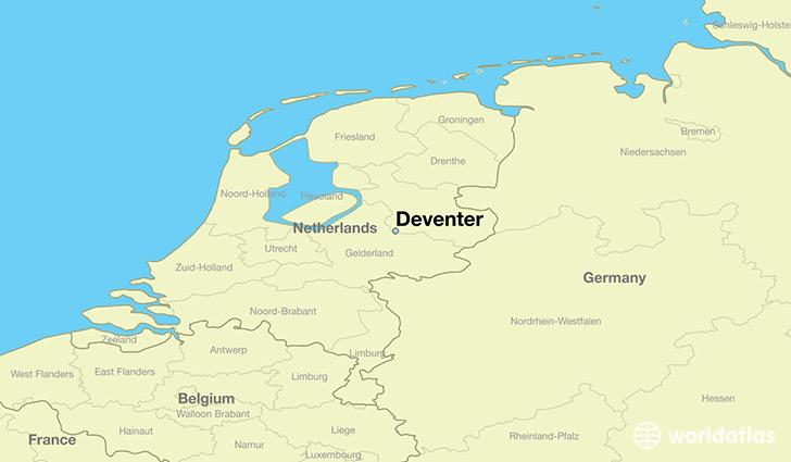 Where is Deventer The Netherlands Deventer Overijssel Map