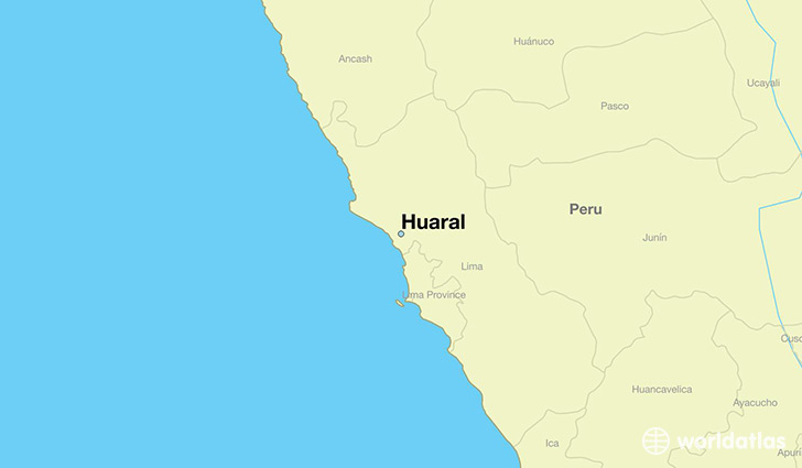 map showing the location of Huaral