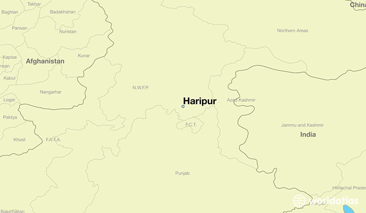 map showing the location of Haripur