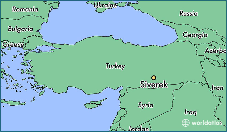 map showing the location of Siverek