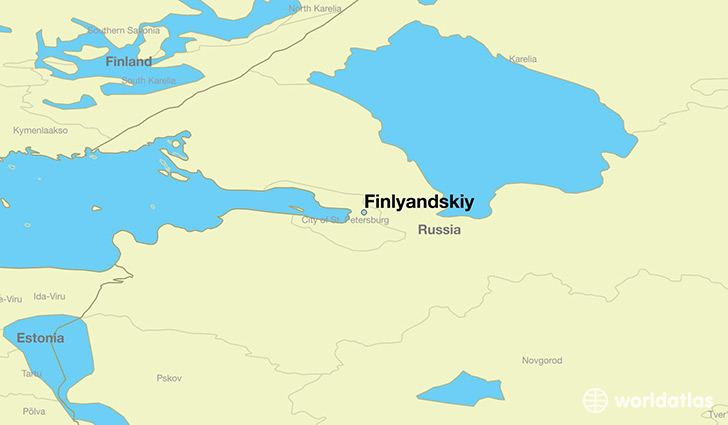 map showing the location of Finlyandskiy