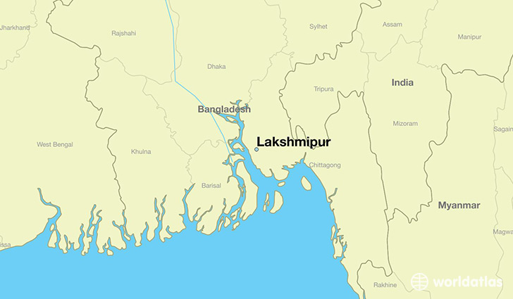 map showing the location of Lakshmipur