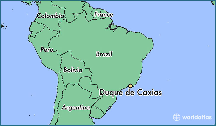 map showing the location of Duque de Caxias