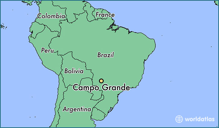 map showing the location of Campo Grande