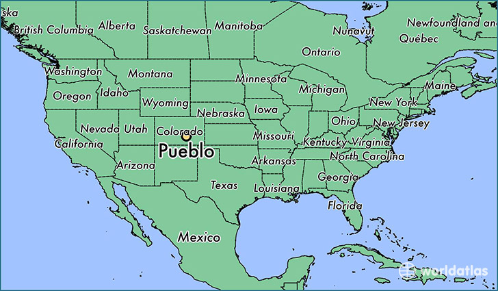 Where Is Pueblo Co Pueblo Colorado Map Worldatlas Com