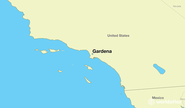 map showing the location of Gardena
