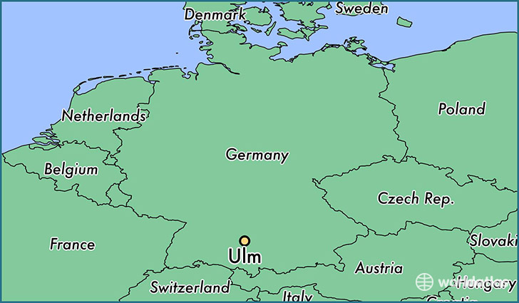 Where is Ulm Germany Ulm BadenWurttemberg Map WorldAtlascom