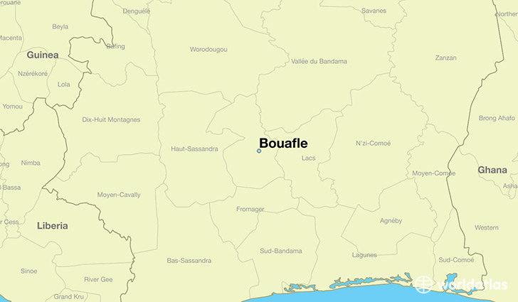 map showing the location of Bouafle