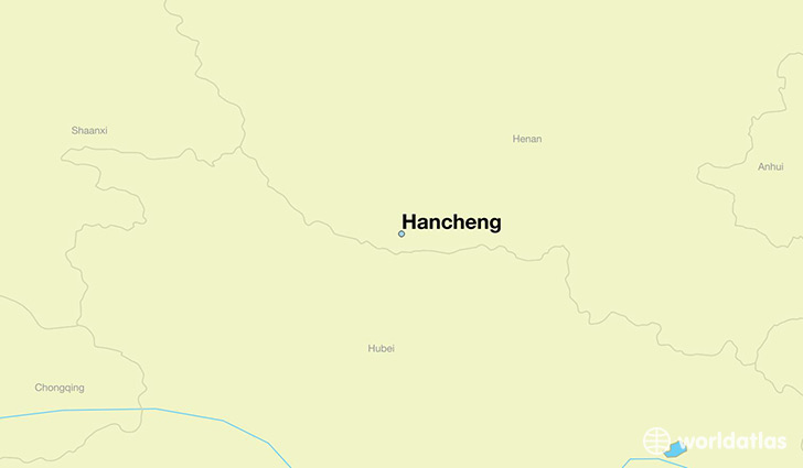 map showing the location of Hancheng