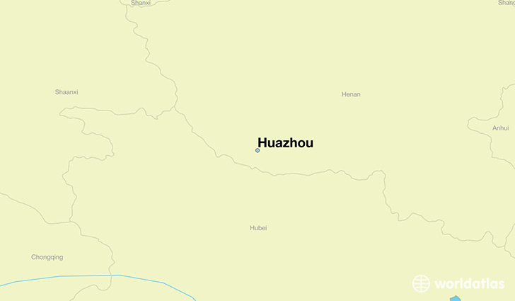 map showing the location of Huazhou