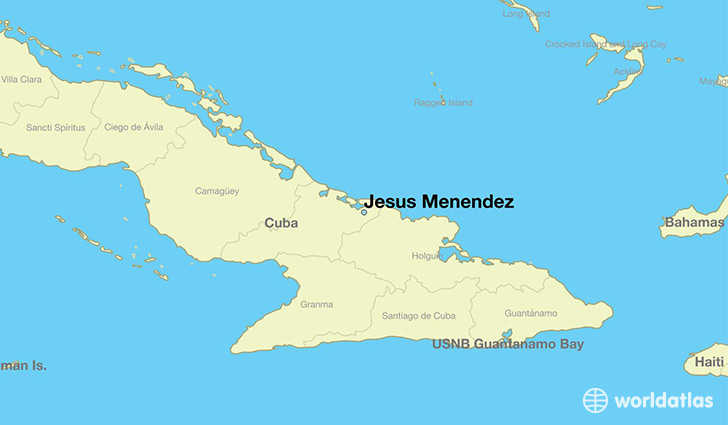 map showing the location of Jesus Menendez