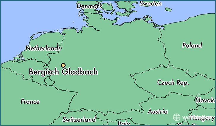 map showing the location of Bergisch Gladbach