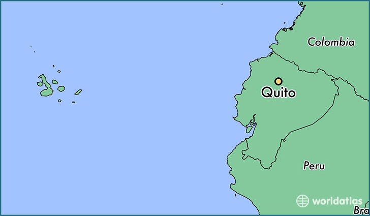 Where is quito ecuador quito pichincha map worldatlas map showing the location of quito gumiabroncs Choice Image