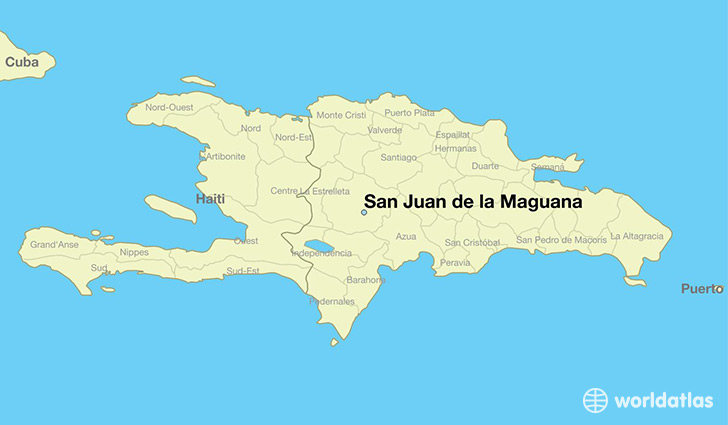 map showing the location of San Juan de la Maguana