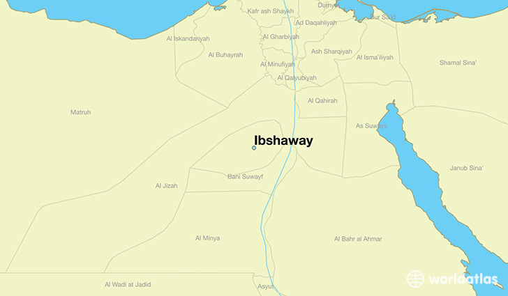 map showing the location of Ibshaway