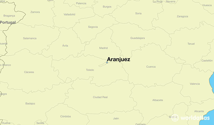 map showing the location of Aranjuez
