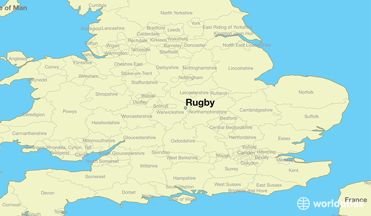 Map Of England Brighton.Where Is Rugby England Rugby England Map Worldatlas Com