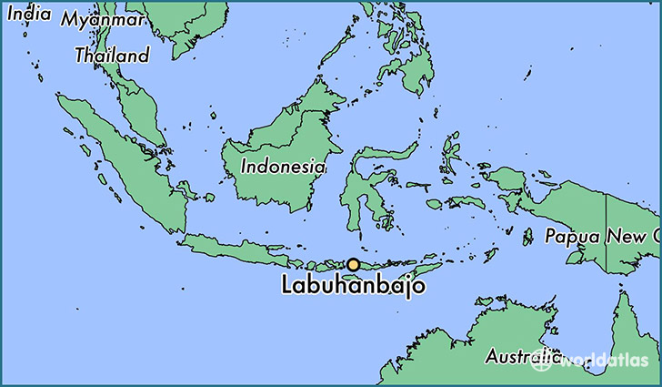 map showing the location of Labuhanbajo